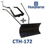Lame à Neige 118 cm Noire + adaptateur pour Husqvarna CTH172