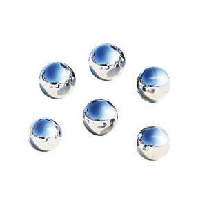 LANUCN 5cm 6pcs Gazing Ball, Boule de Miroir de Jardin en métal, Boule en Acier Inoxydable argentée pour la décoration(5cm x 6pcs)
