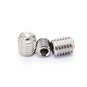 Lot de 10 vis à tête hexagonale M1,6 x 6 mm en acier inoxydable 304 argenté