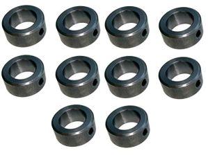 Lot de 10bagues de réglage pour essieu/axe de 20mm DIN 705A, bague avec vis