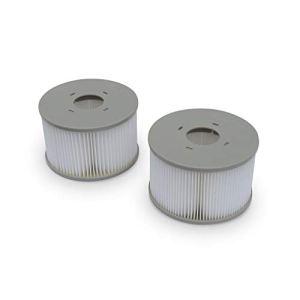 Lot de 2 filtres MSPA V2 pour jacuzzis gonflables Fjord, Kili, Camaro, Mono, Aurora et Tekapo – compatible avec SPA 2020 – 2 Cartouches filtrantes de remplacement pour jacuzzi gonflable mspa