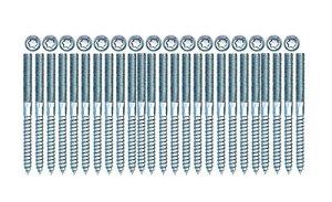 Lot de 25 vis à double filetage en acier galvanisé M8 x 100 TX25