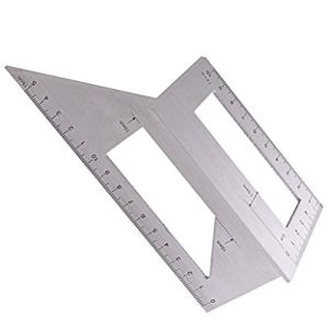 Luccase Jauge de marquage de Bord d'angle, multifonctionnelle 3D Équerre d'onglet Around Mitre Square, Ligne d'équilibre des Traits 45 °, Mesure d'angle à 90 °