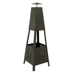 MaxxGarden Cheminée d'extérieur Pyramide – Brasero Chauffage de terrasse – Noir – 100cm