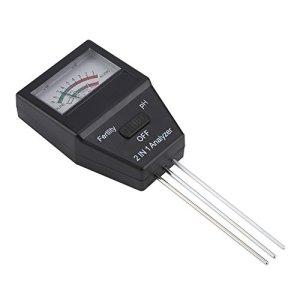 Meiyya Humidimètre du Sol, testeur de Niveau de pH de Longueur de sonde de 3,35 Pouces, léger et Portable pour Les Jardins de Fleurs de pelouse Plante en Pot à la Maison