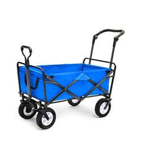 NEHARO Chariot Pliant Wagon Camping en Plein air VTT avec Quatre Roues et poignée de réglage Chariots de Jardin Wagons (Color : A, Size : 90X50X100cm)
