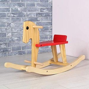 Nobrand SDHF Bois Cheval Rocking Horse Rocking Chair Jouet, Taille: 67x25x54cm