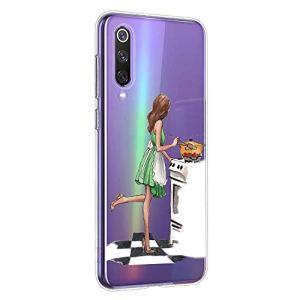 Oihxse Coque pour OnePlus 6T, Etui en Transparente Silicone TPU 3D Protection Bumper Ultra Mince Cristal Housse avec Motif Fille D'Ete Mer Anti Choc Cover (A2)