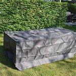 Perel Garden OCT220 Housse de Protection pour Table de Jardin – Maximum 220 cm, Anthracite, 225 x 105 x 75 cm