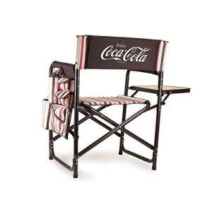 Pique-Nique Time Coca-Cola Chaise de Sport Pliante Portable Moka