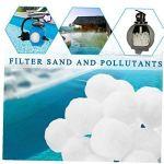 Piscine Filtre Balls Filtrer Ball, Eco-Friendly fibre boule réutilisable Piscine filtre Boules en polyéthylène Filtre pour piscine, blanc