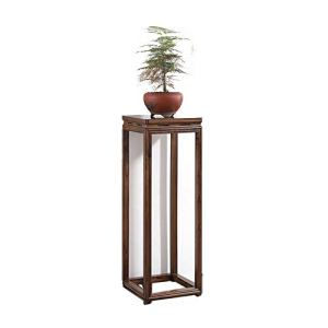 Plante Shelf Fleur Rack, Bois Jardinière, géométrique Vases Colonne Stand, Cadre Boîte rectangulaire, Jardinière d'affichage (Color, Size : 35x35x100cm)