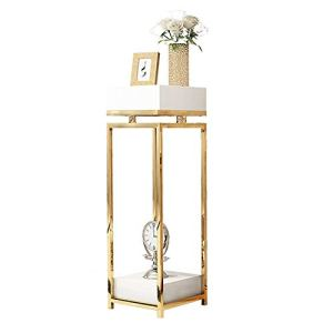 Plante Shelf Moderne Jardinière, Métal Floral Support for Mariage Socle, Simple Pilier Centerpieces Carré Design for Vases (Color : Black, Size : 35x35x90cm)