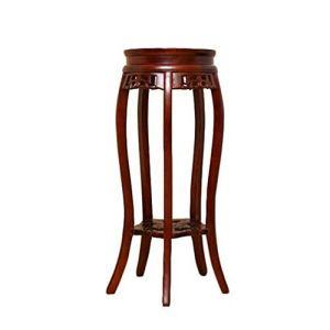 Plante Shelf Usine Stand à 2 Niveaux Bois Socle End Table courbé Jambes avec étagère Rack Planteur Pots de Fleurs Porte Étalage (Color, Size : 30x80cm)