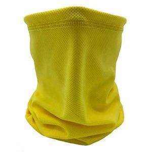 PPangUDing Écharpe tubulaire multifonction unisexe à séchage rapide pour moto, extérieur, coupe-vent, respirant, protection solaire, protection de la bouche, foulard, bandana jaune