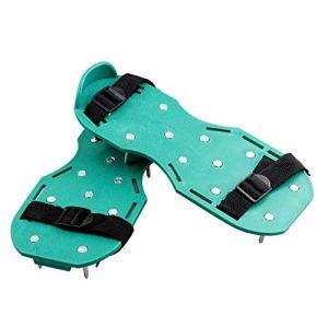 QIANG 1 paire de chaussures de gazon gonflables avec 26 clous pour gonfler les pelouses et les cours et 6 ceintures réglables très résistantes