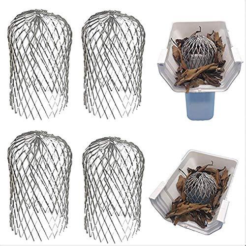Rehomy Lot de 4 filtres de gouttière extensibles pour gouttière 7,6 cm