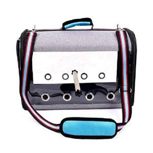 smallJUN Portable Parrot Carrier Shoulder Bag Birdcage Handbag Travel Breathable Bird Box Handbag