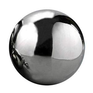 Sphères creuses en acier inoxydable, effet miroir– Décoration artistique d'extérieur