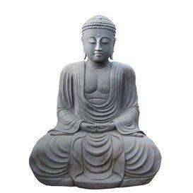 Statue Bouddha Katashi en pierre pour jardin en pierre