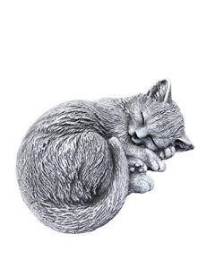 Statue chat chiot endormi (8x17x14 cm), sont expédiés, au gel jusque -30 °c , en massif pierre