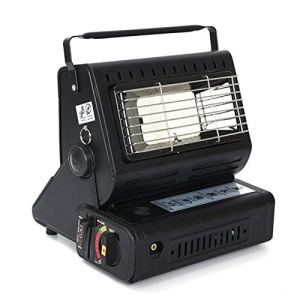 Sunnyushine Chauffage portable à butane pour rideaux d'extérieur bivalent, chauffage pour chambre et cuisine pendant le camping