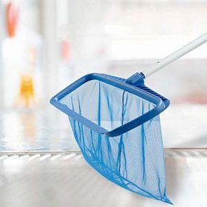 Tesysyet Bleu, Nettoyage Piscine Étage Épuisette, Ayant Cadre en Matière Plastique Renforcée De Montage for Barre Télescopique, 515 X 235 Mm X410