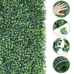 teyiwei Wisvis 40X60 Cm Tapis de Gazon Artificiel Tapis de Plantes Panneaux de Gazon Clôture Murale Maison Jardin Toile de Fond Décor pour Chiens Jeu pour Animaux de Compagnie Balcon