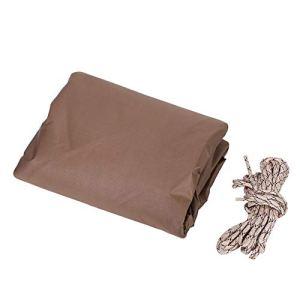 TOPINCN – 3 x 4 m – Résistance à la déchirure – Imperméable – Respirant – pour Jardin, terrasse, Meubles, Table – Protection UV – Emballage Marron
