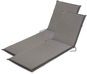 Traumnacht Confort Coussin pour fauteuil à dossier haut, Lot de 2, Outdoor, Anthracite, 190 x 58 x 6 cm