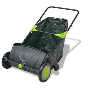 vidaXL Balayeuse à gazon balayeuse de feuilles pour jardin terrasse 103 L