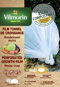 Vilmorin Film de Croissance Perforé-Farine de Céréales-2m x 4m, 20µm Housses, Naturel