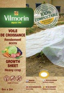 Vilmorin Voile de Croissance-Farine de Céréales-2m x 8m, 18µm Housses, Naturel