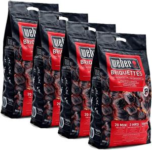 Weber Lot de 4 sacs de briquettes
