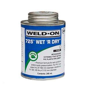 Weld sur 725Wet R Dry Revêtement plastique tuyau Ciment