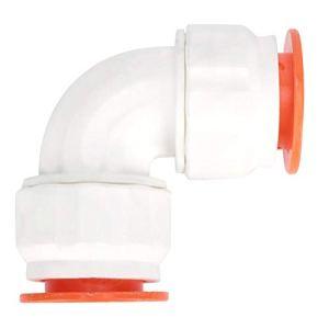wosume Accessoires de Tuyau, raccord de Tuyau d'eau Bonne ténacité, connecteur de Tuyau d'eau sans Rouille, Blanc + Orange pour Toilette de Cuisine