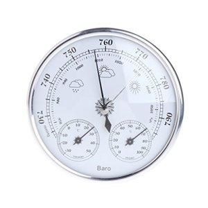 Yunso Station météo avec thermomètre, baromètre et hygromètre en Acier Inoxydable