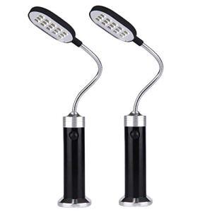 ZHANGYY 2 pièces Portable magnétique 360 degrés réglable Lampe à LED avec 15 LED pour Barbecue Barbecue Grillage extérieur Gril Accessoires Outils