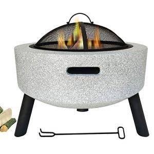 0℃ Outdoor Barbecue Charbon de Bois BBQ Gril Démontable, Fosse à Bois de Chauffage pour Barbecue Extérieur de Jardin Camping et Pique Nique, Conception Facile à Graver, Facile à Assembler,Blanc