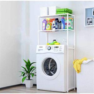 2 Niveaux sur Le Support Armoire De Toilette étagère Porte-Serviettes Cuisine Machine à Laver Support Salle De Bains économiseur D'espace étagère Sup
