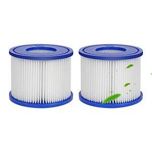 Achort Filtre de Piscine Gonflable Cartouches de Filtres Remplacement Filtre pour Cartouche Filtrante Bestway VI pour Vegas, Monaco, Palm Springs, 2 filtres