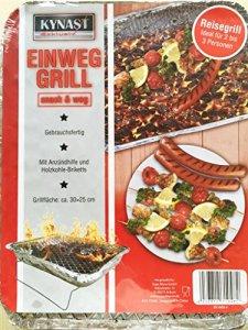 Barbecue jetable 30 x 25 x 4 cm nick ben reisegrill pique-nique barbecue à charbon de bois