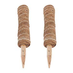 Bestonzon Lot de 2 piquets en fibre de coco pour plantes grimpantes 30 cm