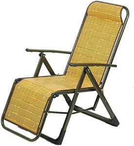 Chaise longue pliante Chaise de balcon Chaise longue en été à l'extérieur Chaise de chaise longue réglable en plein air Fauteuil plage Terrasse Terrasse Chaise de jardin,Metallic