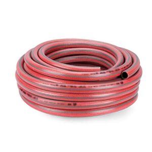 Chun Li Jardin arrosoir en plastique tuyau d'eau, 6 points for tuyau Ferme et ranch Antidéflagrant Anti-dur pulvérisation à haute pression tuyau d'arrosage (Color : Red, Size : 100m)