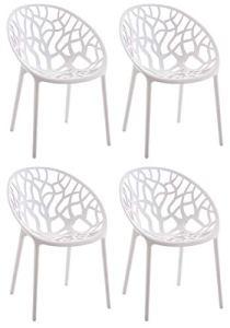 CLP Hope Lot de 4 chaises de jardin empilables en plastique Charge maximale : 150 kg.