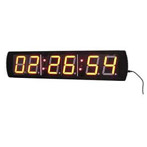 Compte à rebours de 4 Pouces intervallomètre Horloge Compte à rebours Fitness Training Salle de Fitness avec télécommande Grand Compte à rebours (Couleur: Noir, Taille: 69X16X4CM) Peng