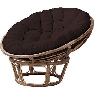 Coussins de chaise de hamac d'oeuf suspendu confortablement suspendus, coussin à nid de nid d'œuf rond coussin de balcon intérieur sans stand, tapis de chaise lavable brun foncé 50x50x15cm (20x20x6inc