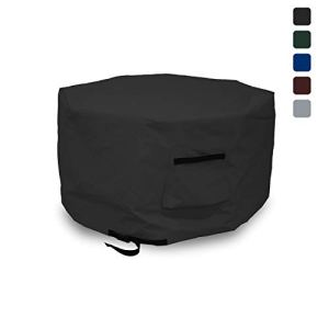 Covers & All Octagon Bâche de Foyer imperméable 100% résistant aux UV et aux intempéries avec Poche d'air et Sangle de Serrage pour Un Ajustement Optimal 40″ H x 65″ D Noir