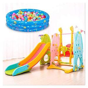 Diapositives à l'intérieur for enfants en bas âge, Structures de Jeu avec Basketball Hoop, peut être utilisé avec Swing, Porte Football, Assiette Tables pliantes, basket-ball stand, batte de baseball,